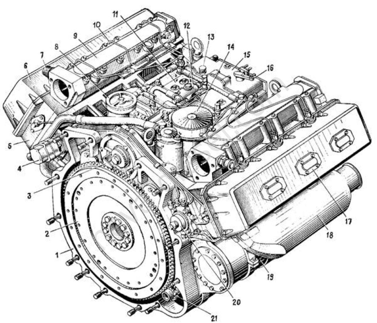 водяной насоспомпа на двигатель а 41 схема