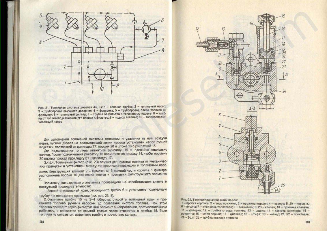 топливная система дизельного двигателя ямз 238 схема