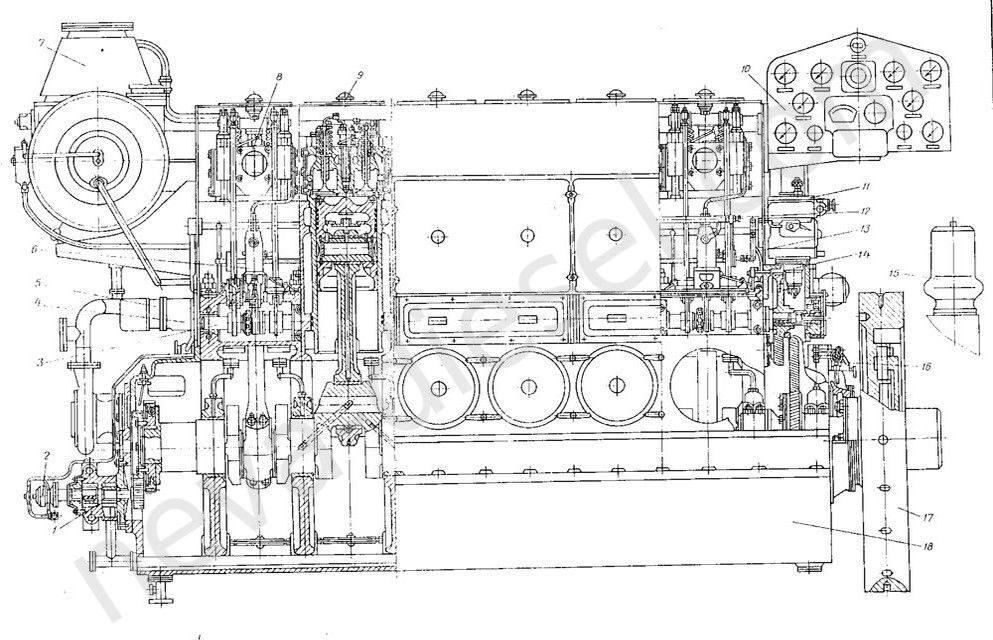 Запасные части двигателя 6ЧН