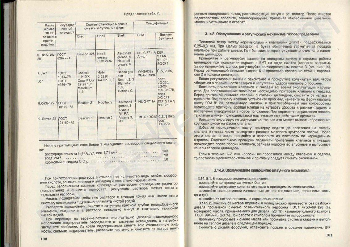 инструкцию по эксплуатации техническому обслуживанию дизелей 4ч 8 5 11