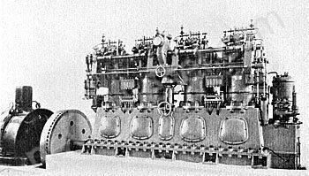 """Два судовых двигателя """"Дизель"""", изготовленные на заводе Людвига Нобеля в С.-Петербурге Фото 2 1910-е гг."""