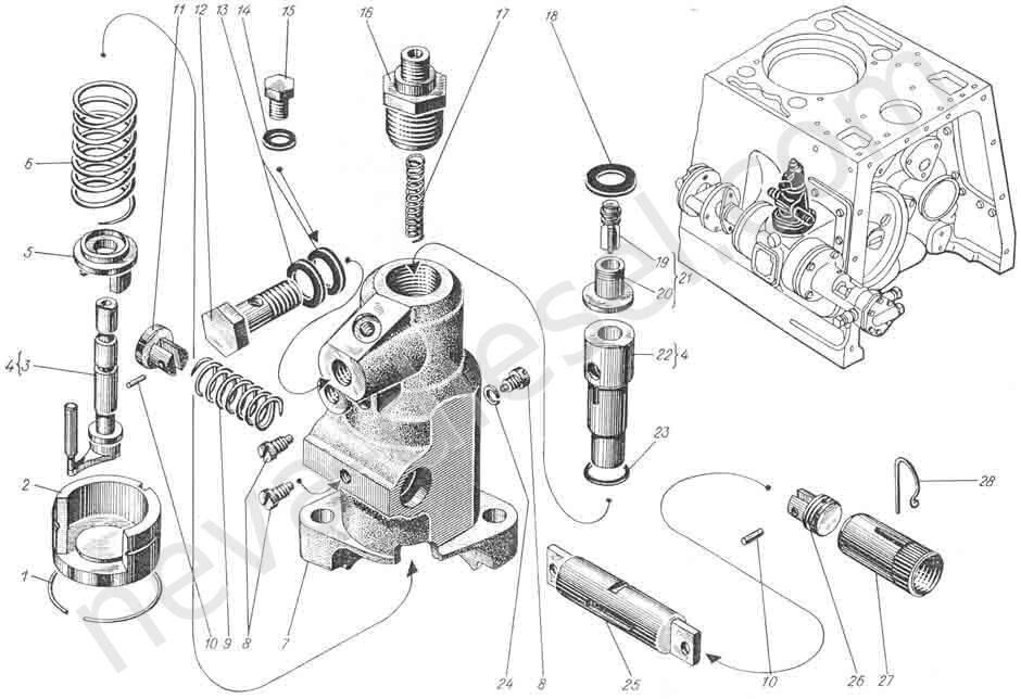 Корпус топливного насоса 2Ч3-