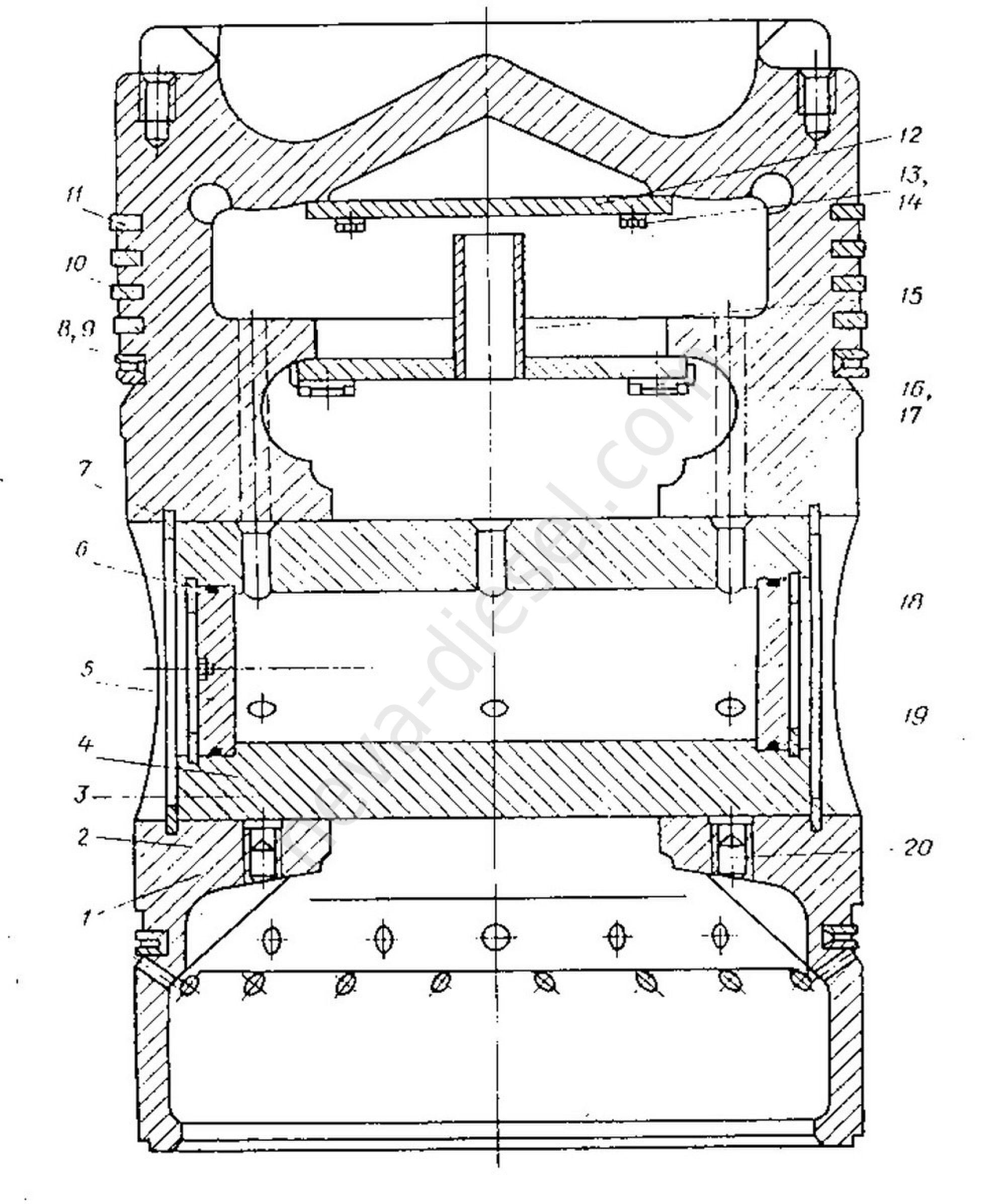 схема ди3еля 4ча