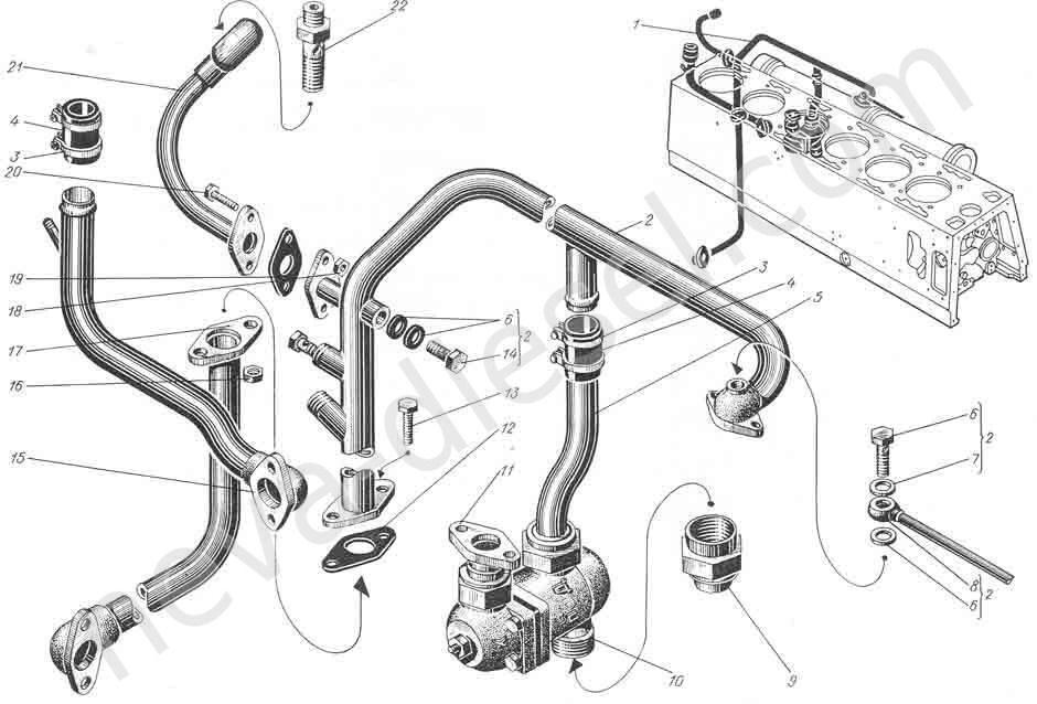 Трубопровод масла (для дизелей